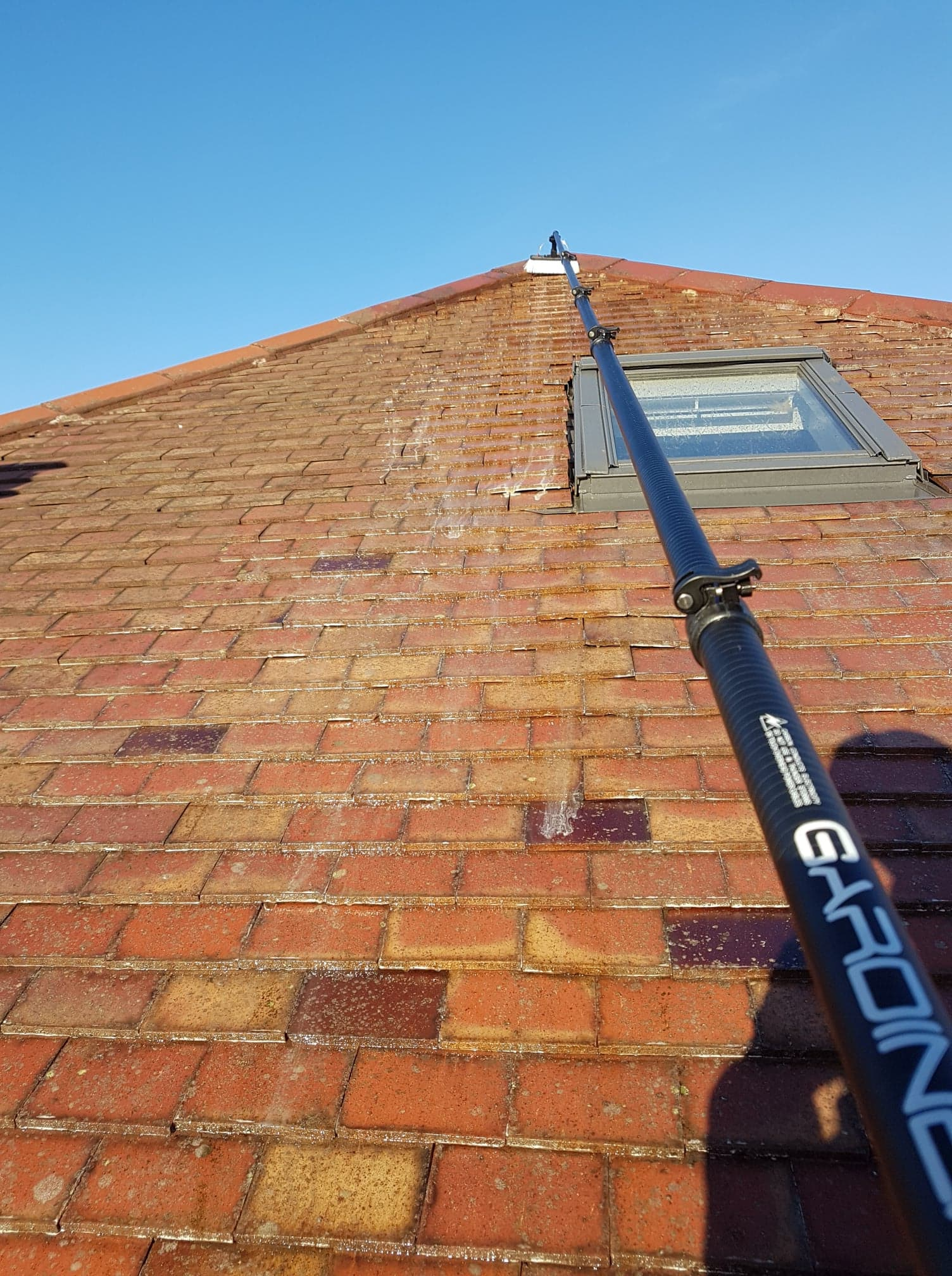 Roof cleaning in Lenzie
